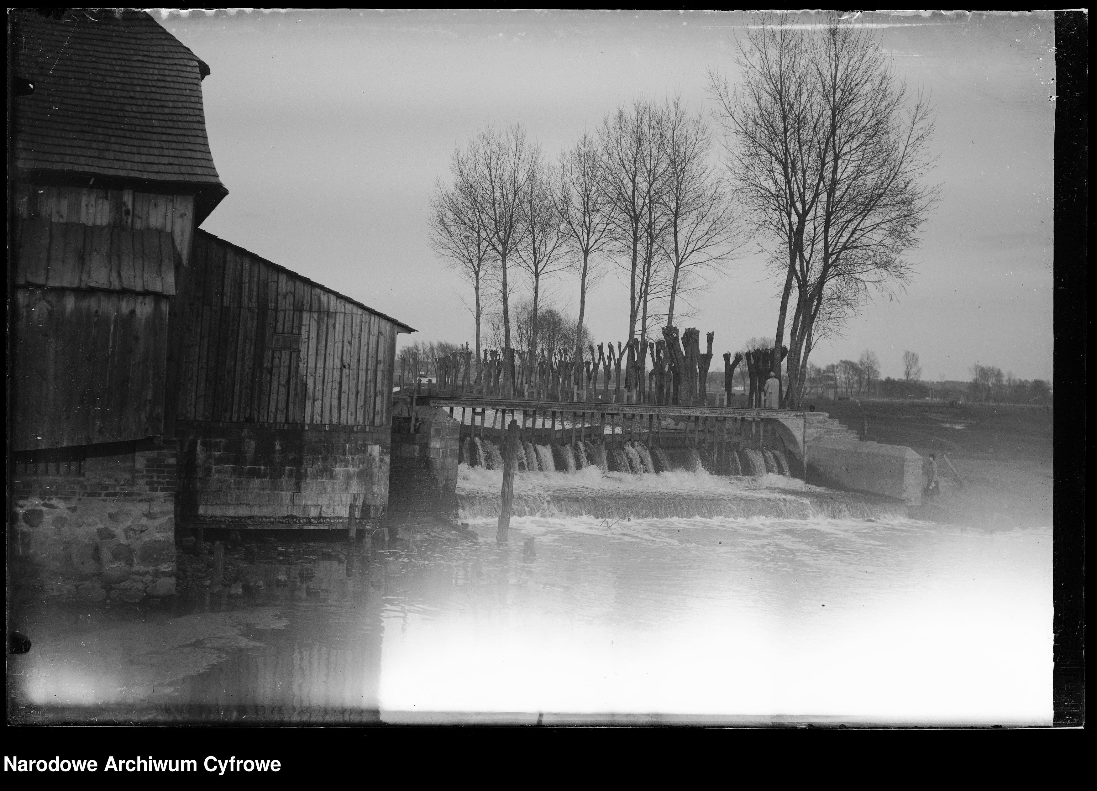 Śluza przy młynie w Garwolinie 1932
