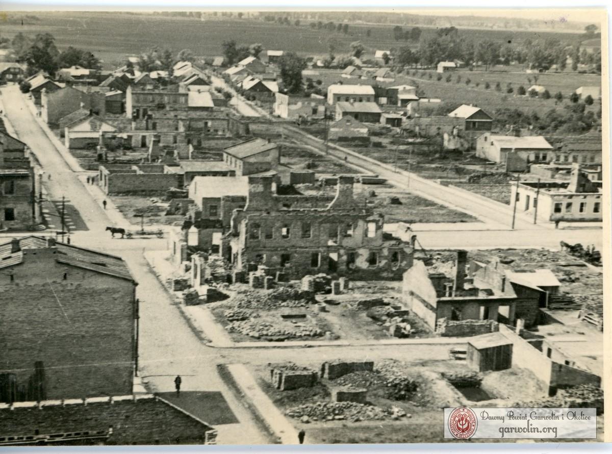 Panorama zbombardowanego Garwolina 10 X 1940 r.