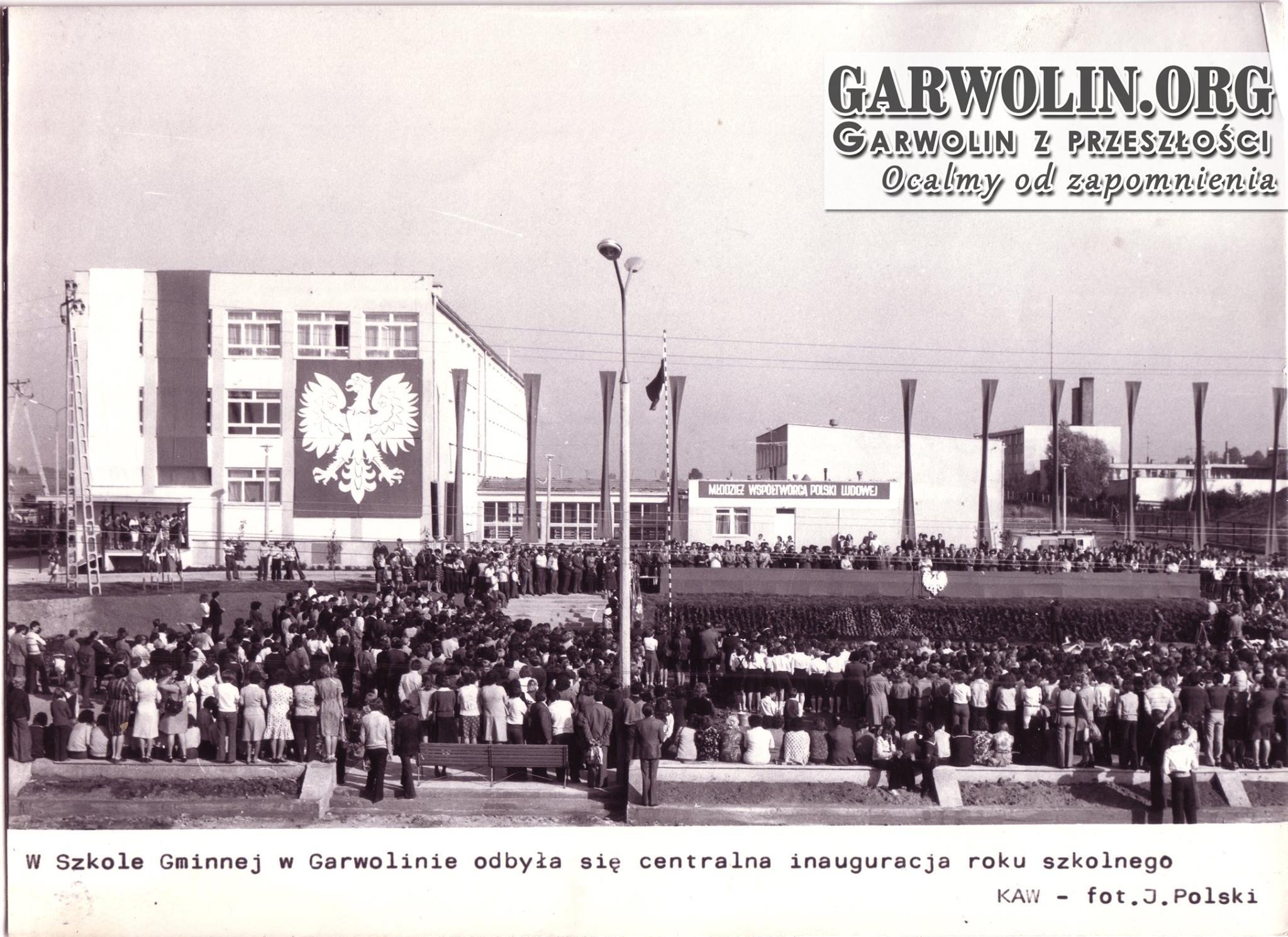 Inauguracja roku szkolnego 1977/1978