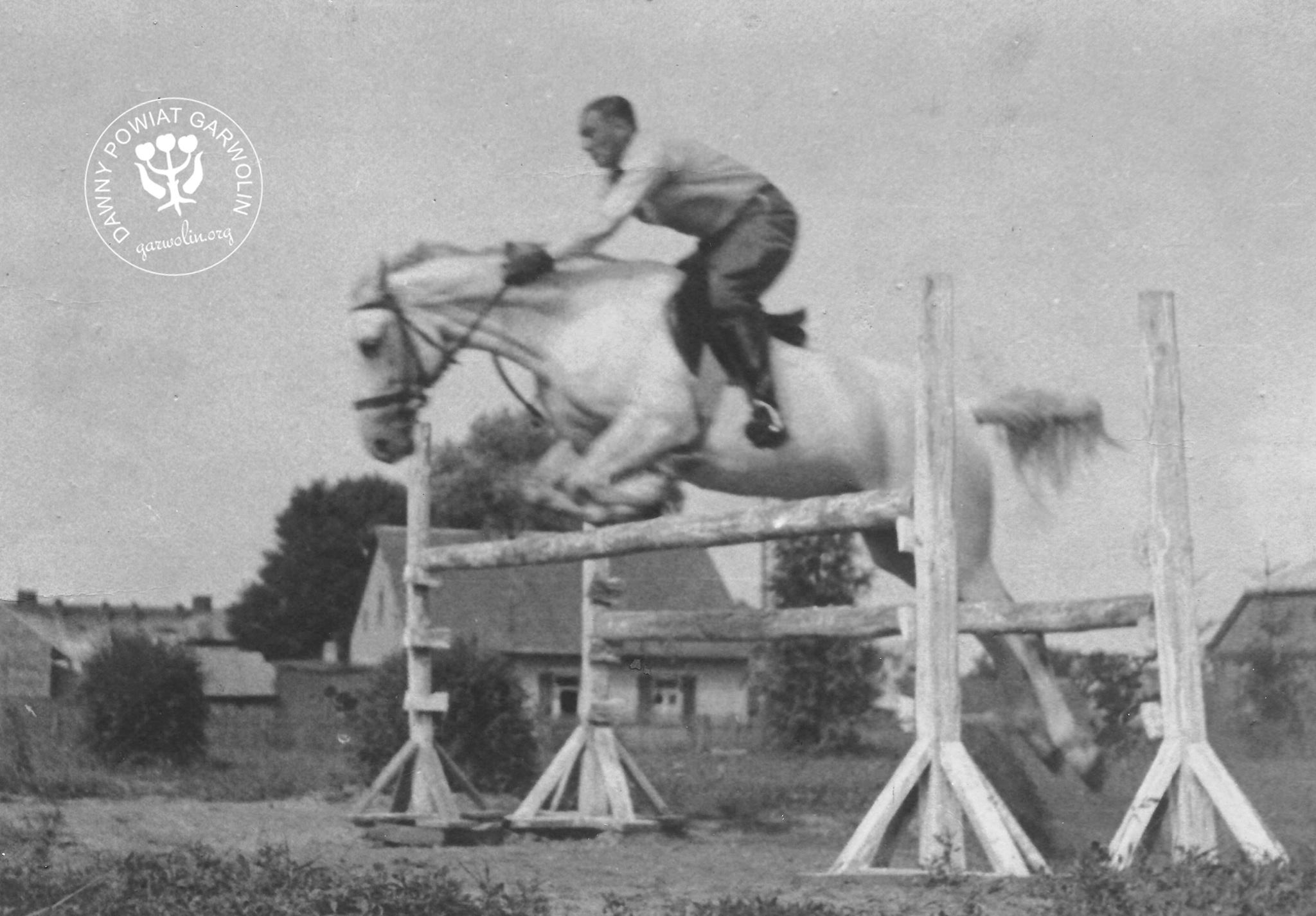 Karl Freudenthal na koniu