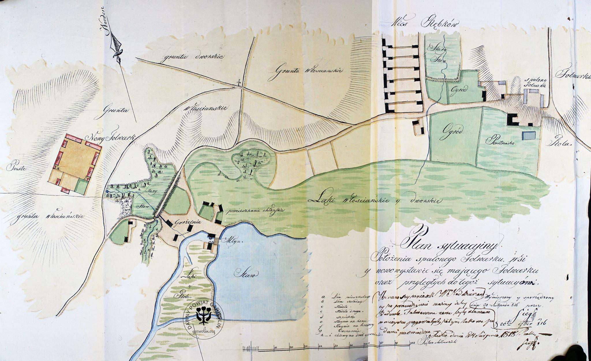 Mapa Rębkowa z 1816 r.