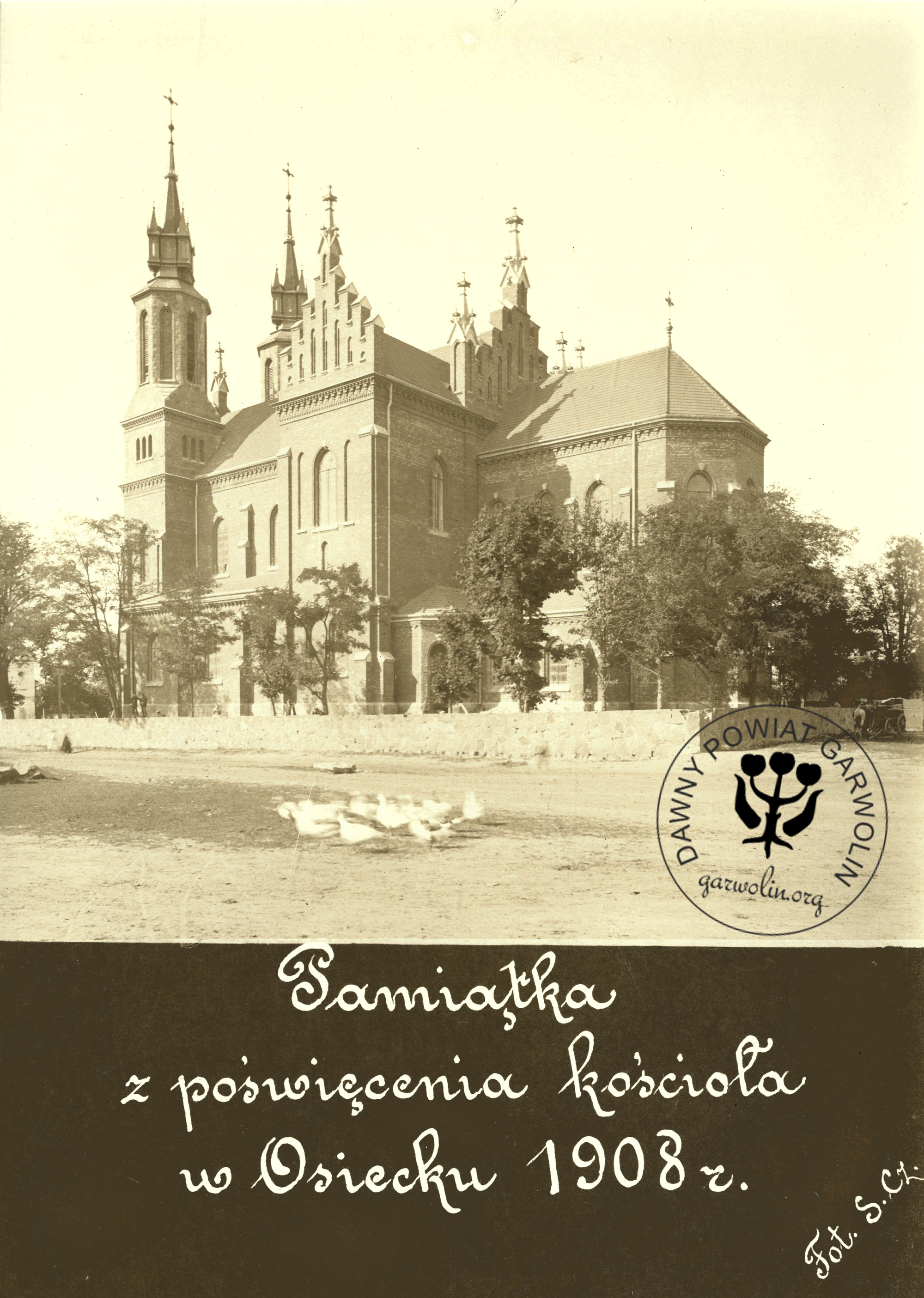 Kościół w Osiecku 1908 r.