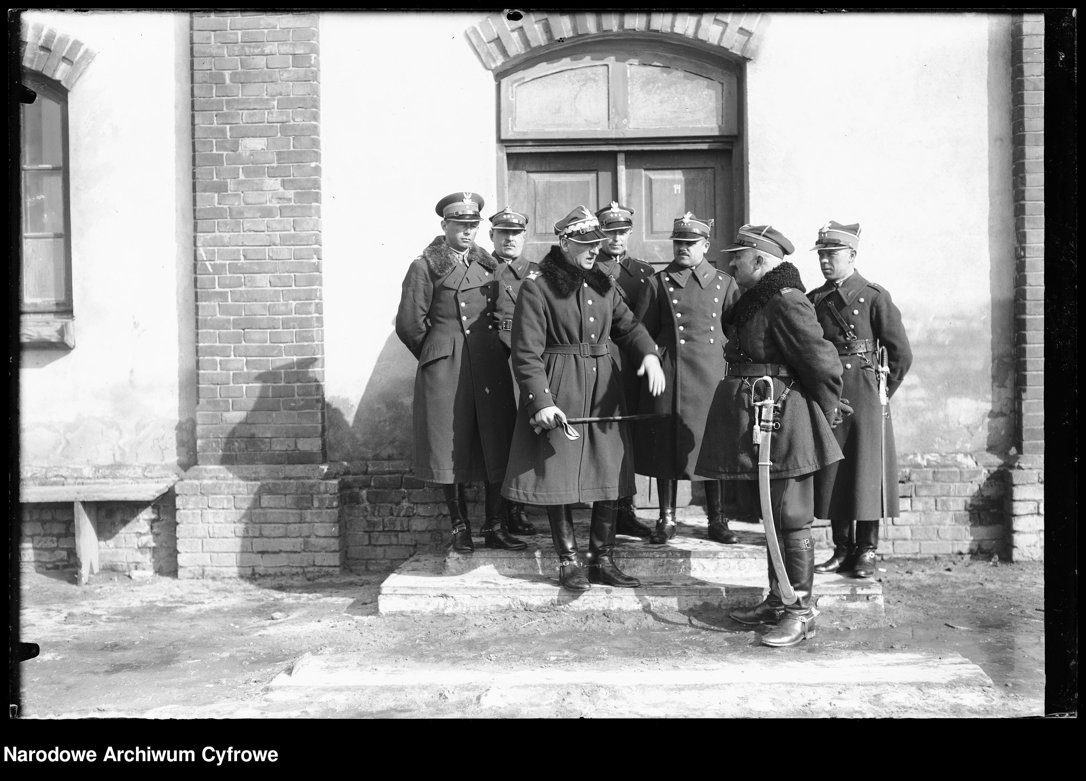 Bolesław Wieniawa-Długoszowski na inspekcji w 1 Pułku Strzelców Konnych w Garwolinie