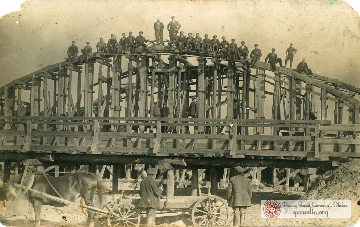 Budowa mostu w Garwolinie 1932 r.