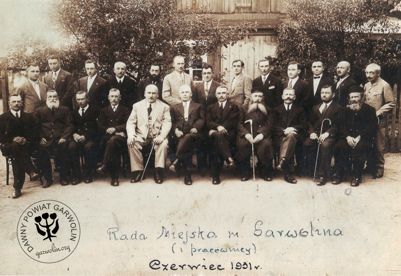 Rada miejska Garwolina VI 1931 r.