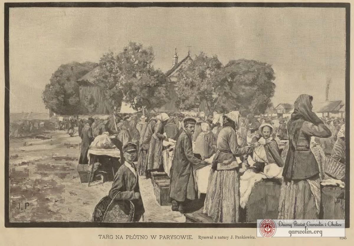 Targ na płótno w Parysowie 1889 r.