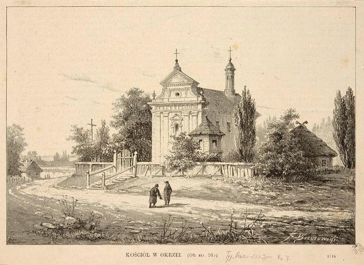 Kościół w Okrzei 1883 r.