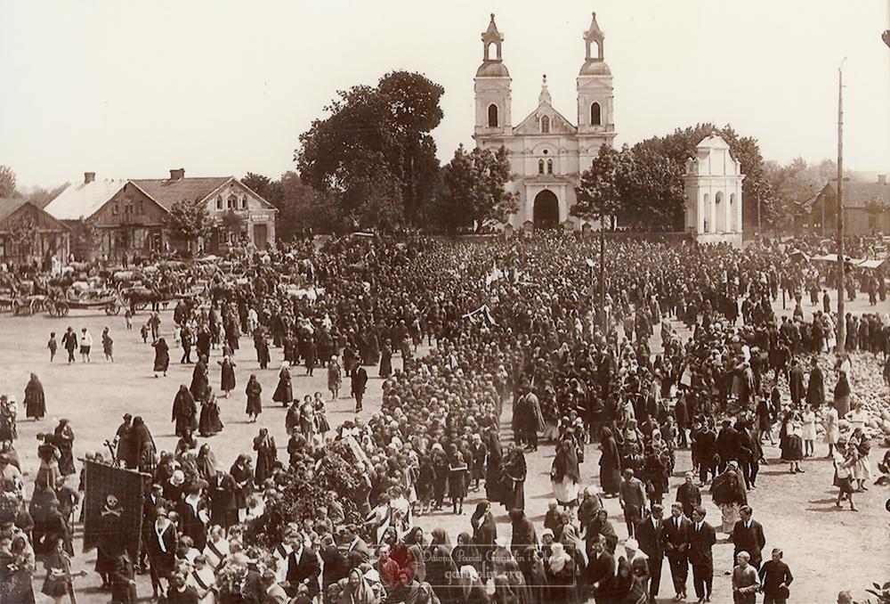 Pogrzeb Michała Rogali- Turskiego. Łaskarzew 1927 r.