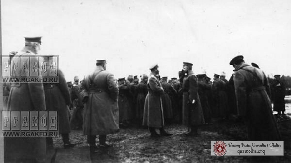 Wizyta Cara Mikołaja II w okolicach Garwolina
