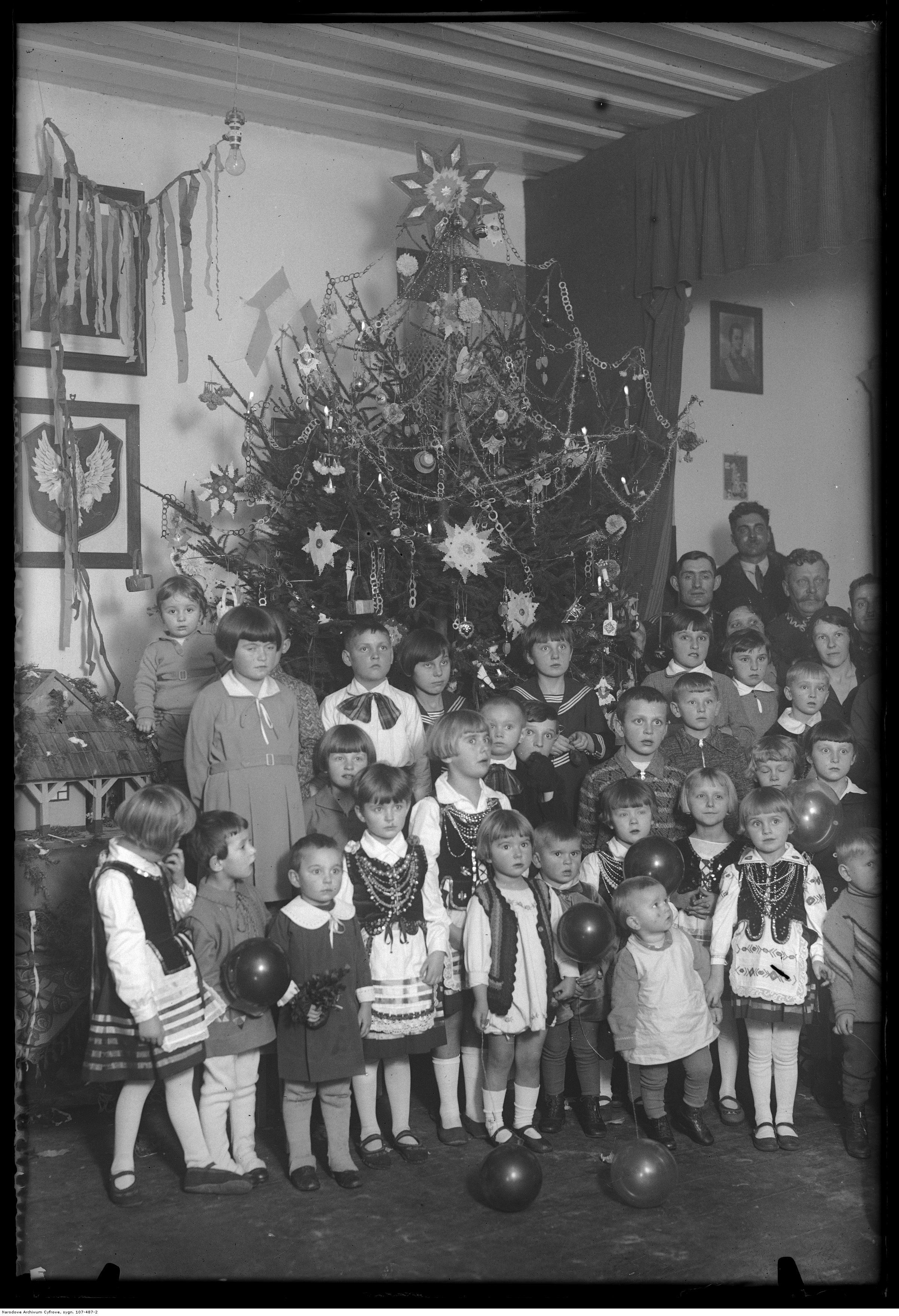 1. PSK - Przedszkole Rodzin Wojskowych - Boże Narodzenie 1932 r.