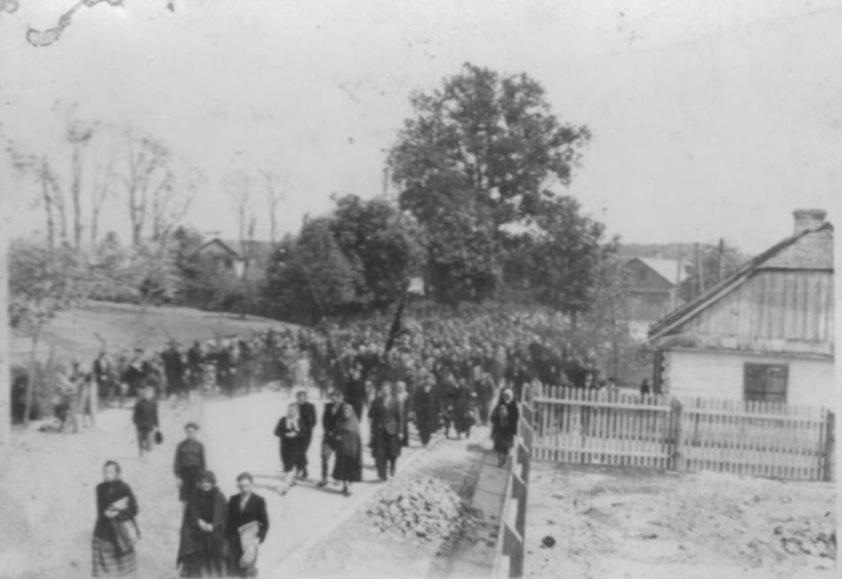 Żelechów. Pogrzeb Kiliszków w 1943 r.