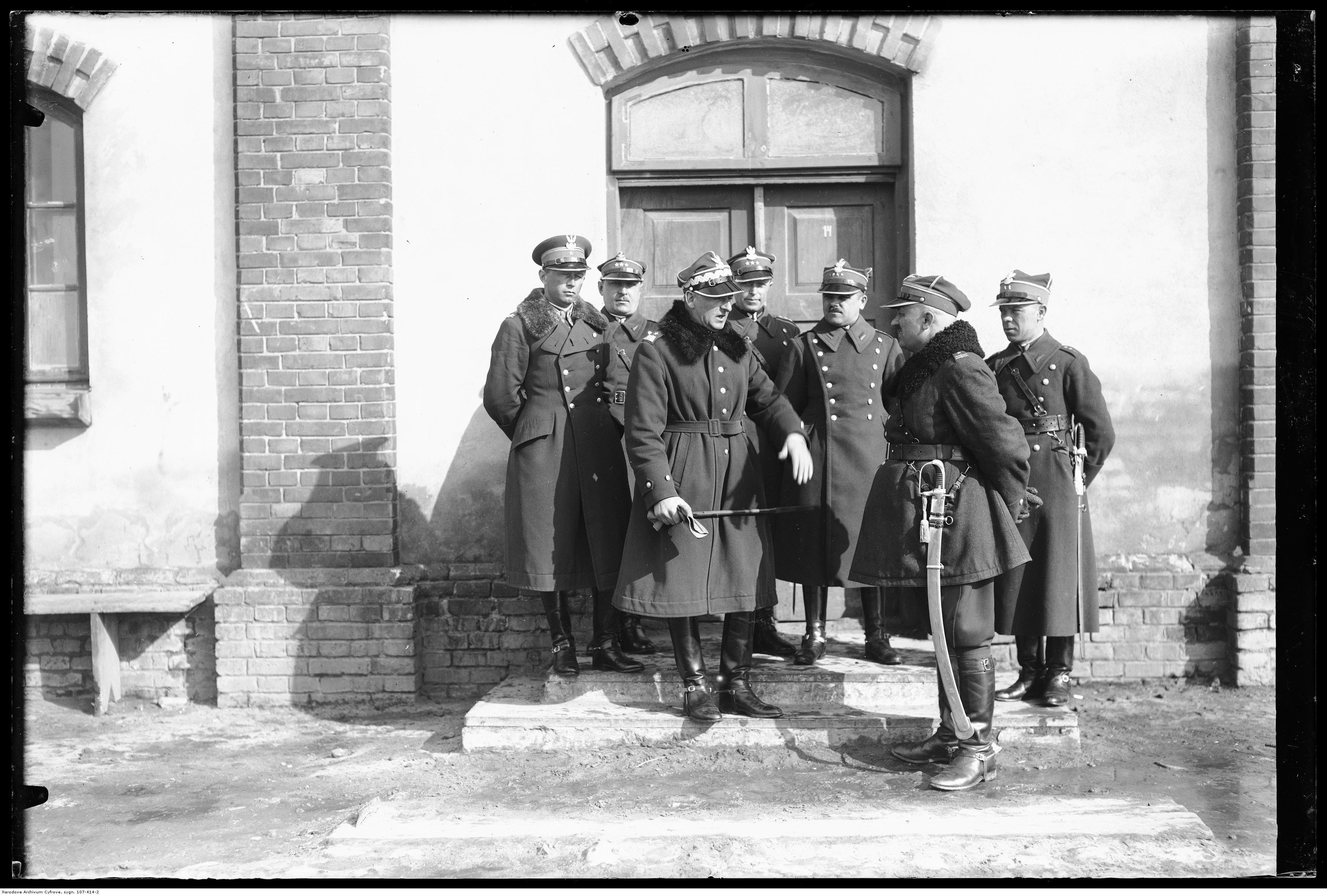 gen. Bolesław Wieniawa-Długoszowski na inspekcji w 1. PSK w Garwolinie