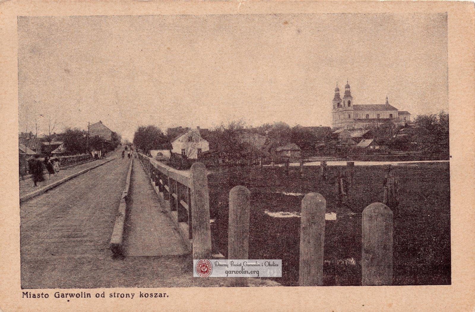 Drewniany most w Garwolinie