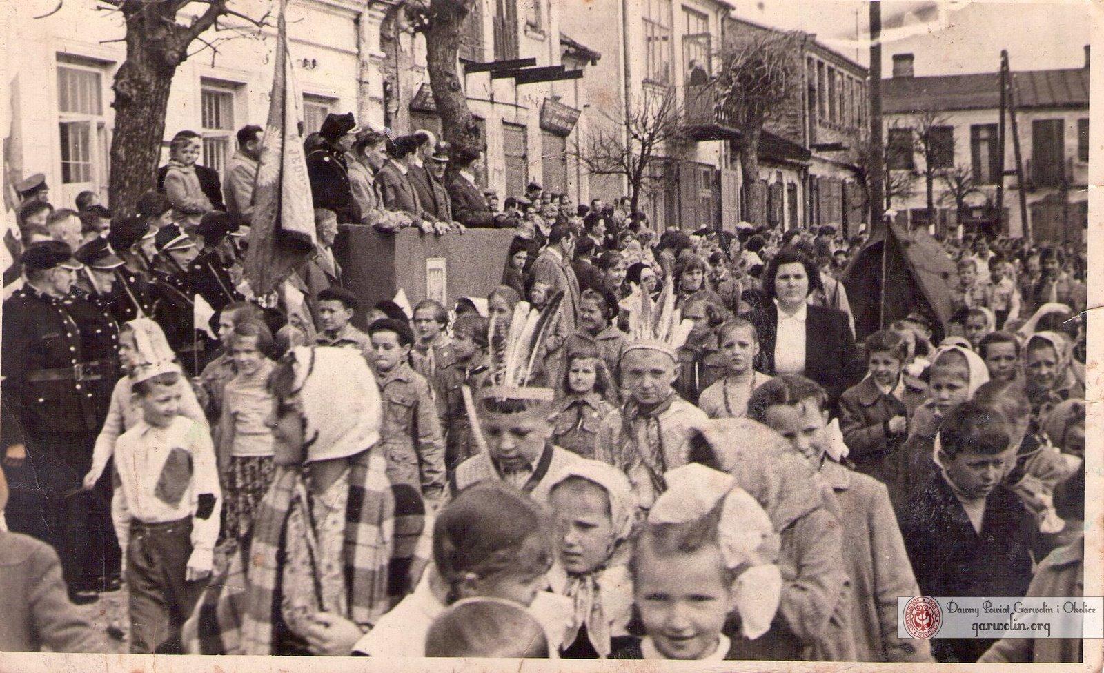 Pochód 1 maja 1959 w Łaskarzewie