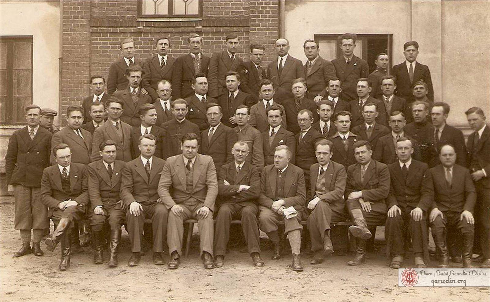Kurs dozorców drogowych - Sobieszyn 1937 r.